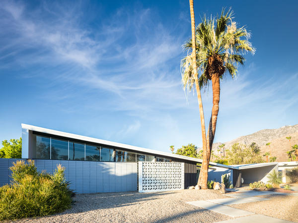 A mid-century modern home designed by William Krisel in the Twin Palms neighborhood of Palm Springs, Calif.