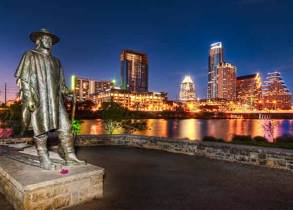 Stevie Ray Vaughan statue in Austin.
