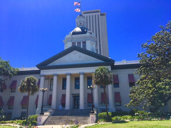 The historic building of the Florida legislature in Tallahassee