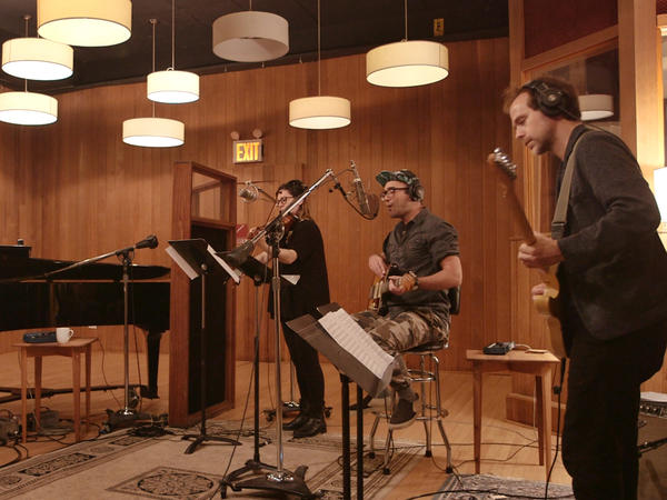 Sufjan Stevens, Bryce Dessner, Nico Muhly and Nadia Sirota perform the closing track off 'PLANETARIUM.'