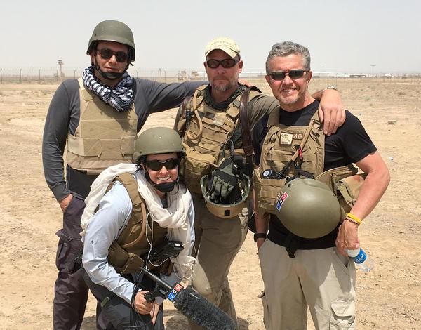 Zabihullah Tamanna (from left), Monika Evstatieva, David Gilkey and Tom Bowman