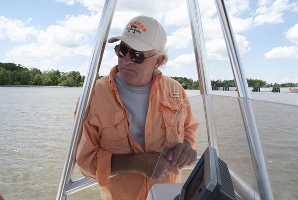 Kevin Rutley, whose family has lived near the Barataria Waterway since the Civil War. (Virginia Hanusik for Here & Now)
