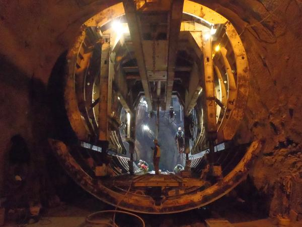 A photo of the finished Euclid Creek Tunnel, the first of 7.