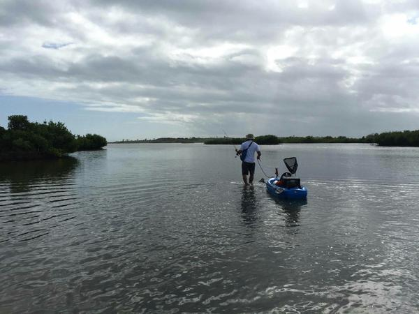 Gerry Realin copes with his PTSD by spending time on the Intercoastal Waterway near his home in Volusia County, Fla.