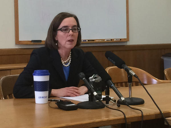 File photo. Oregon Gov. Kate Brown called the state legislature to pass a budget before the session ends in July.