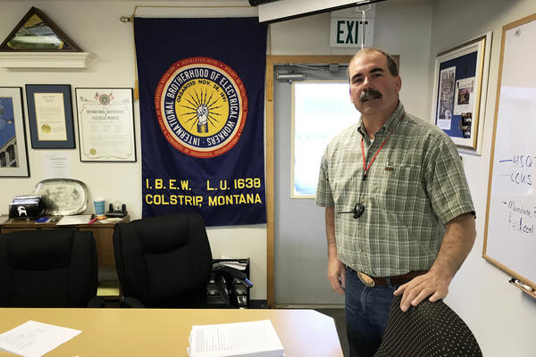 Rex Rogers keeps a copy of the Clean Power Plan at the union hall in Colstrip. As the business manager for the local chapter of the International Brotherhood of Electrical Workers, he represents about 250 workers at the town's power plant.
