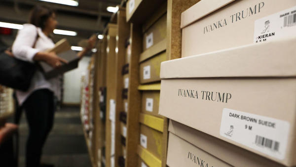 Women's shoes by the Ivanka Trump fashion brand sit for sale at a Manhattan retailer on June 1, 2017 in New York City. Ivanka Trump's fashion brand has faced calls for boycott from anti-Trump activists, while Trump supporters have called for boycotts on stores refusing to sell her products.