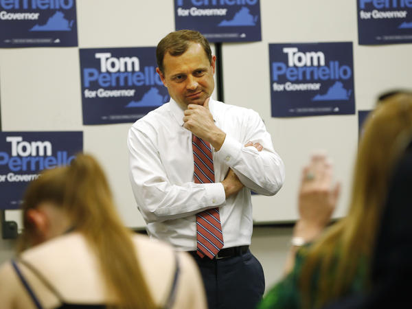 Former U.S. Rep. Tom Perriello listens to a question during a town hall in Richmond, Va., last month.