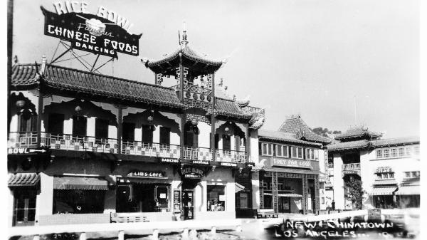 A Los Angeles Chinatown street in 1930. Ubiquitous now, Chinese restaurants were once feared by the white establishment.