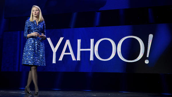 "Yahoo CEO Marissa Mayer, seen in 2014, wrote a farewell post to employees titled ""Nostalgia, Gratitude & Optimism."" She signed off with: ""Yaho-o-oo! Marissa."""