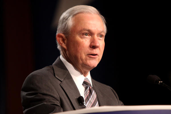 U.S. Attorney General Jeff Sessions is testifying before the Senate Intelligence Committee on Tuesday.