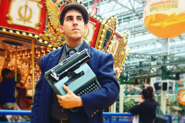Brian Sonia-Wallace at the Mall of America in Minnesota. Wallace won the mall's writer-in-residence contest. (Courtesy Brian Sonia-Wallace)