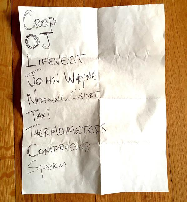 Set list from Roadside Monument's Barboza set in Seattle, June 4.