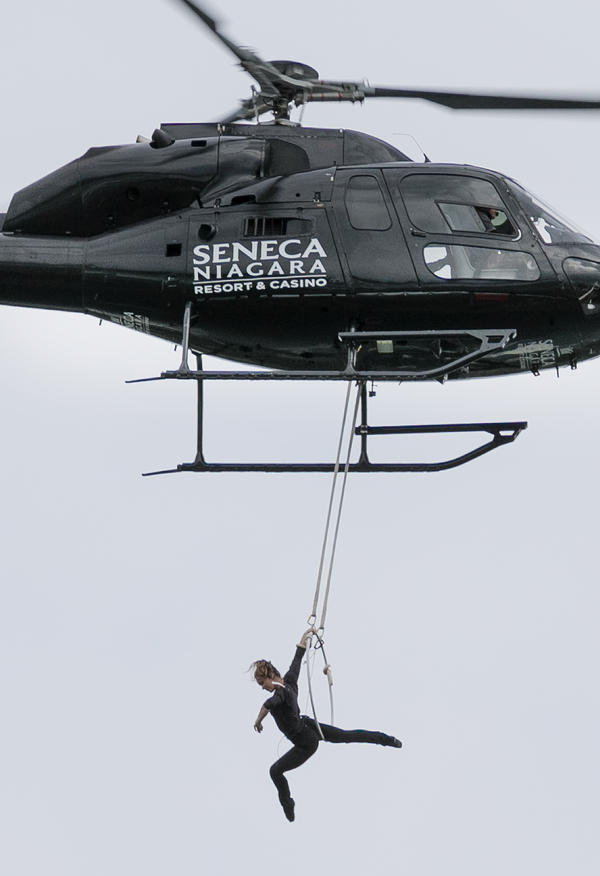 Erendira Wallenda put on an acrobatics show as part of the event