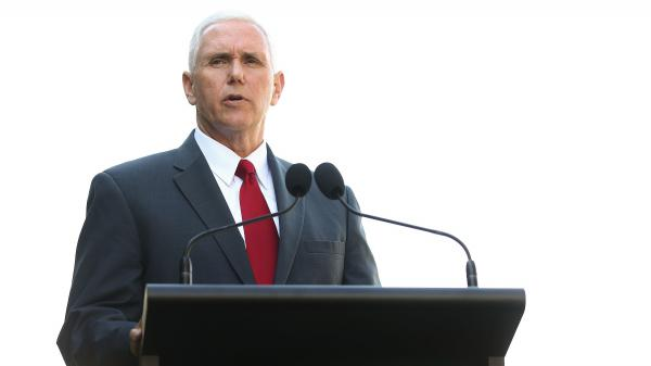 Vice President Mike Pence, seen during an April press conference in Sydney, Australia.