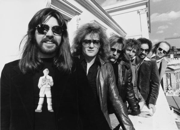 Bob Seger, left, and his Silver Bullet Band in London in 1977 (from second to left: Drew Abbott, Robyn Robbins, Alto Reed, Chris Campbell and Charlie Allen Martin).