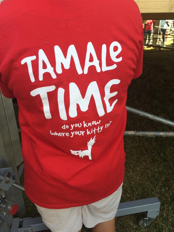 T-shirts worn by Lost Cat Hot Tamale Company vendors in Greenville, Mississippi