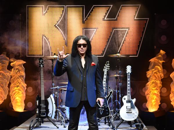 Gene Simmons, the frontman of Kiss, wants to trademark the hand sign shown here, though the hand sign has many meanings.