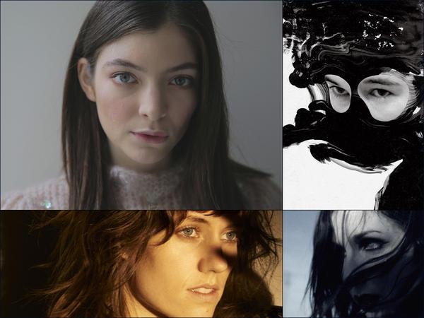 Clockwise from upper left: Lorde, Zola Jesus, Chelsea Wolfe, Katie Von Schleicher
