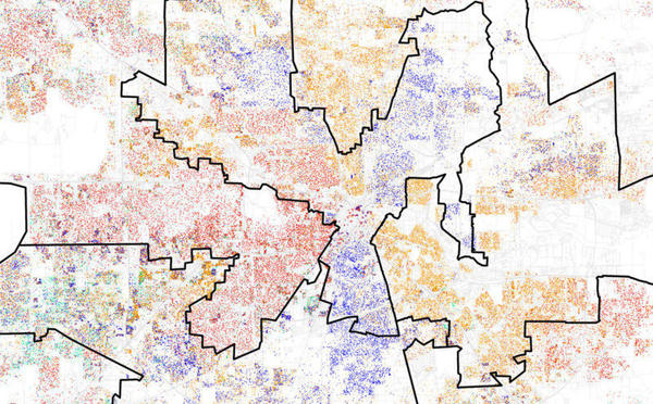 2012 Houston congressional district boundaries