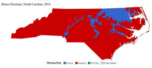 Gerrymandered U.S. House districts have given Republicans an edge in recent years.