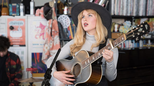 Holly Macve performs a Tiny Desk Concert on May 5, 2017. (Claire Harbage/NPR)