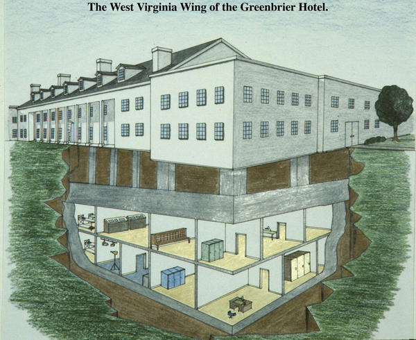 Above are the plans for Congress' nuclear bunker in Greenbrier, West Va.
