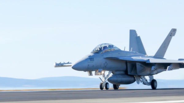 <p>An EA-18G Growler jet at Naval Air Station Whidbey Island in Washington.</p>