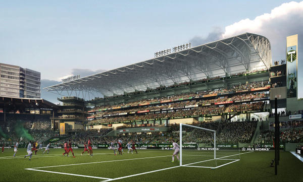 <p>Interior of the proposed expansion on the east side of Providence Park</p>
