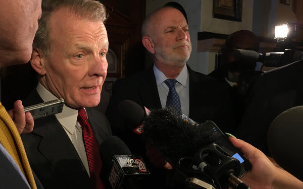 House Speaker Michael Madigan speaks with reporters in this file photo from May 2017.