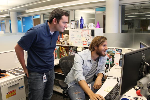 Alex collaborates with his intern, Alexander Hanson.