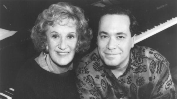 Marian McPartland and Eddie Gomez in 1993.