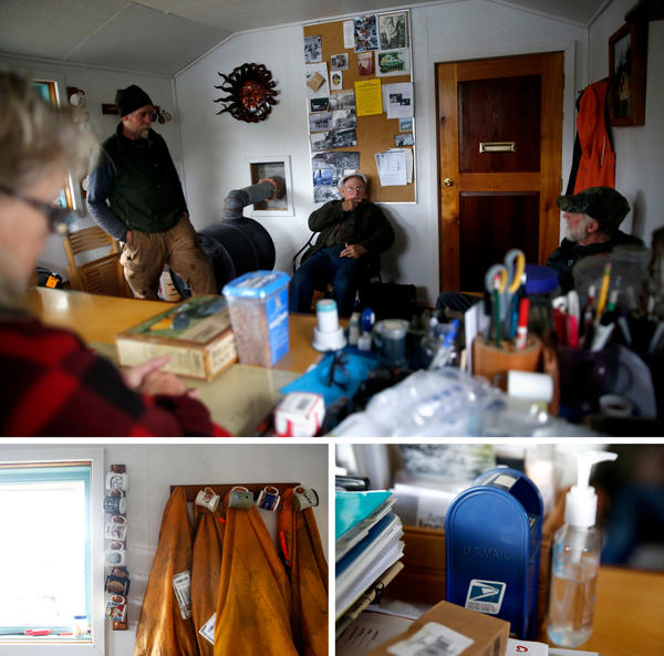 On Wednesdays, folks in Meyers Chuck flood the post office to pick up their mail. The office is small — a single room — and peppered with trinkets.