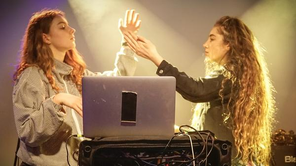 Let's Eat Grandma's Jenny Hollingworth and Rosa Walton perform during SXSW 2017.
