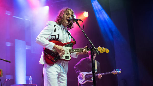 Kevin Morby performs on stage at World Cafe Live during a WXPN Free At Noon Concert.