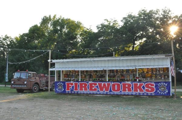 A Palmer Fireworks stand