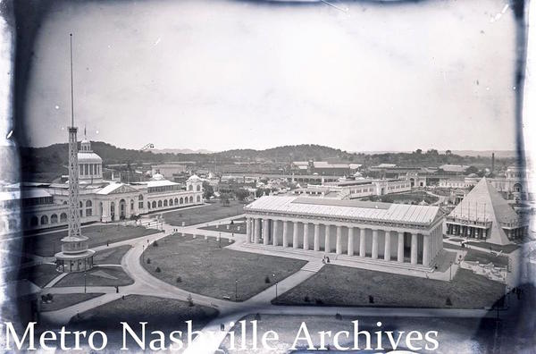 This glass plate negative shows the 1897 Tennessee Centennial Exposition. It was recently discovered among negatives kept in storage for nearly 30 years.