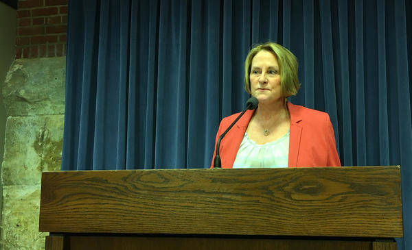Senate Republican Leader Christine Radogno, R-Lemont, will resign effective Saturday, July 1, 2017.
