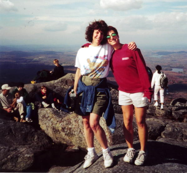In November 2000, Carie and her mom climbed Mount Monadnock in New Hampshire.