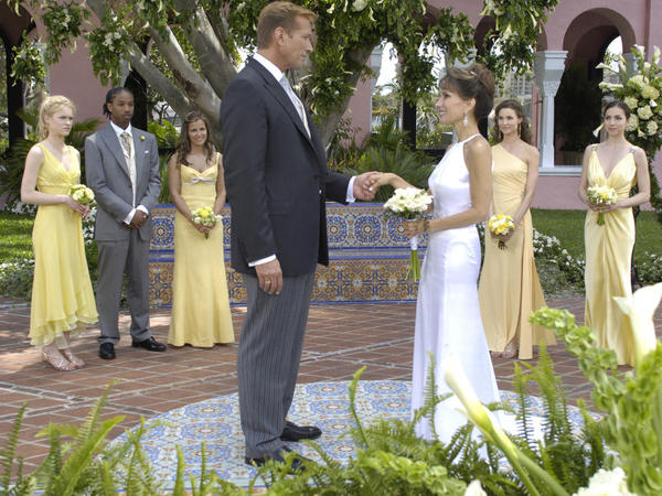 <em>All My Children</em> characters Erica Kane (Susan Lucci) and Jackson Montgomery (Walt Wiley) married in 2005. It was Kane's 10th marriage.