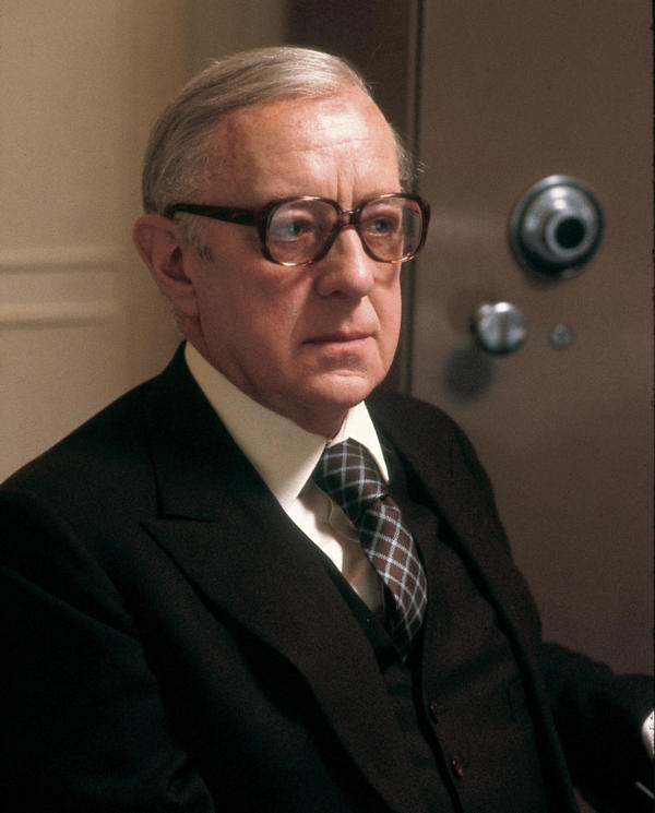 <p>Alec Guinness starred in the 1979 BBC adaptation of John le Carre's novel <em>Tinker, Tailor Soldier, Spy.</em> The series has just been re-released on DVD in anticipation of the release of a new film version of the Cold War-era spy drama.</p>