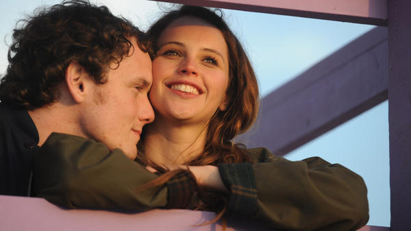 In Drake Doremus' drama <em>Like Crazy</em>, the love-struck Jacob (Anton Yelchin) and Anna (Felicity Jones) are forced to separate when Anna violates the terms of her student visa. <em></em>