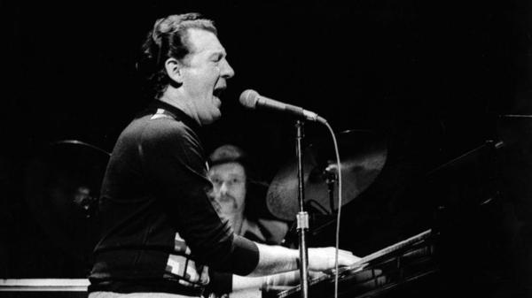 Jerry Lee Lewis, a pianist Isacoff classifies as a 'combustible,' performs at the Rainbow in London in 1972.