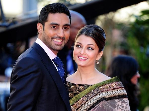 Abhishek Bachchan and Aishwarya Rai arrive at the World Premiere of Raavan at the BFI Southbank on June 16, 2010 in London, England.