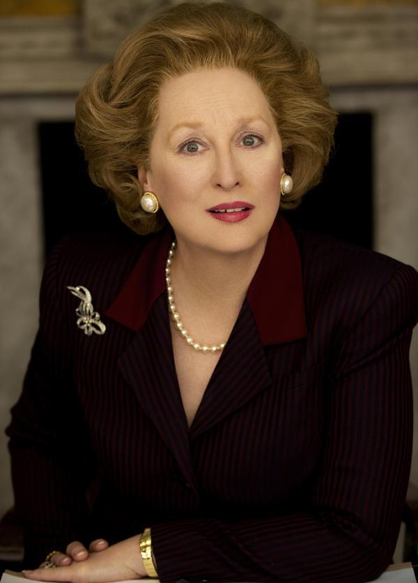 Meryl Streep stars as former British Prime Minister Margaret Thatcher in Phyllida Lloyd's <em>The Iron Lady.</em>