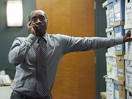 Don Cheadle plays business consultant Marty Kaan in the new Showtime comedy <em>House of Lies</em>.