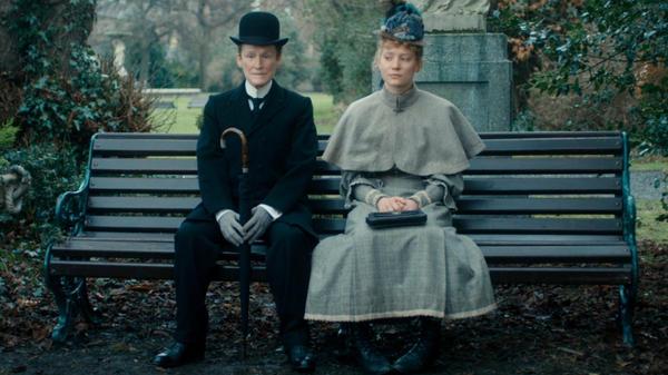 Albert Nobbs (Glenn Close) and Helen (Mia Wasikowska) go on a series of awkward dates in <em>Albert Nobbs</em>, a film based on a 1918 George Moore story.