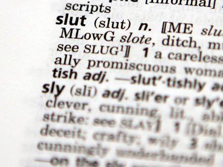 Definition of slut found in dictionary.