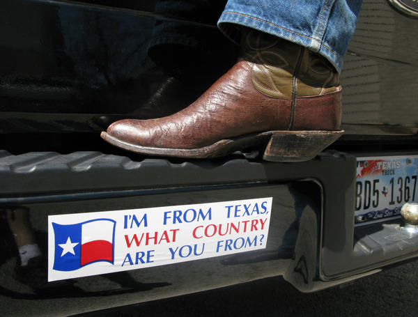 Driving around Texas, it's not uncommon to spot bumper stickers that tout the idea of an independent Longhorn nation.