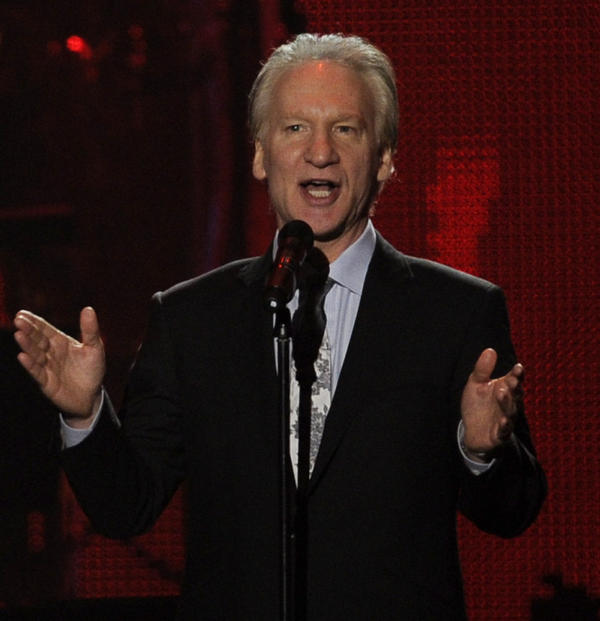 Bill Maher, shown here at a 2011 event in Los Angeles, gave $1 million to the superPAC supporting President Obama's re-election bid.